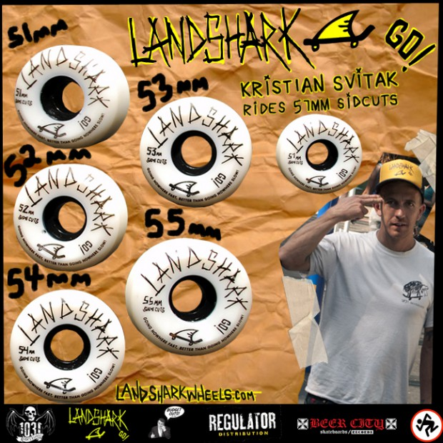 Landshark wheels ads